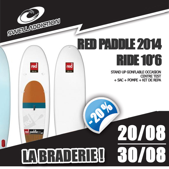 Braderie Jour 7 : Red Paddle Ride 10'6 OKZ