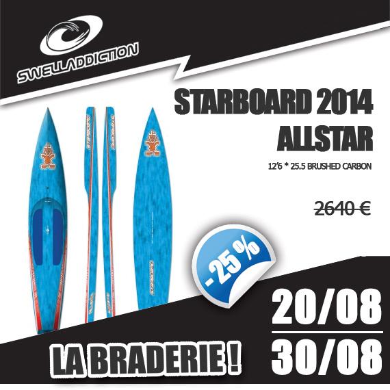 Braderie Jour 8 : Starboard AllStar 12'6 * 25.5 BC 2014